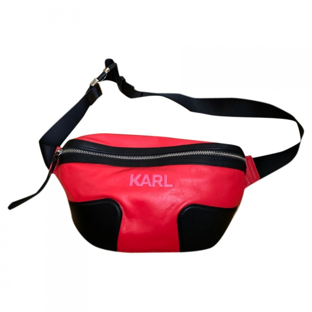 Karl \N Handtasche in  Rot Leder