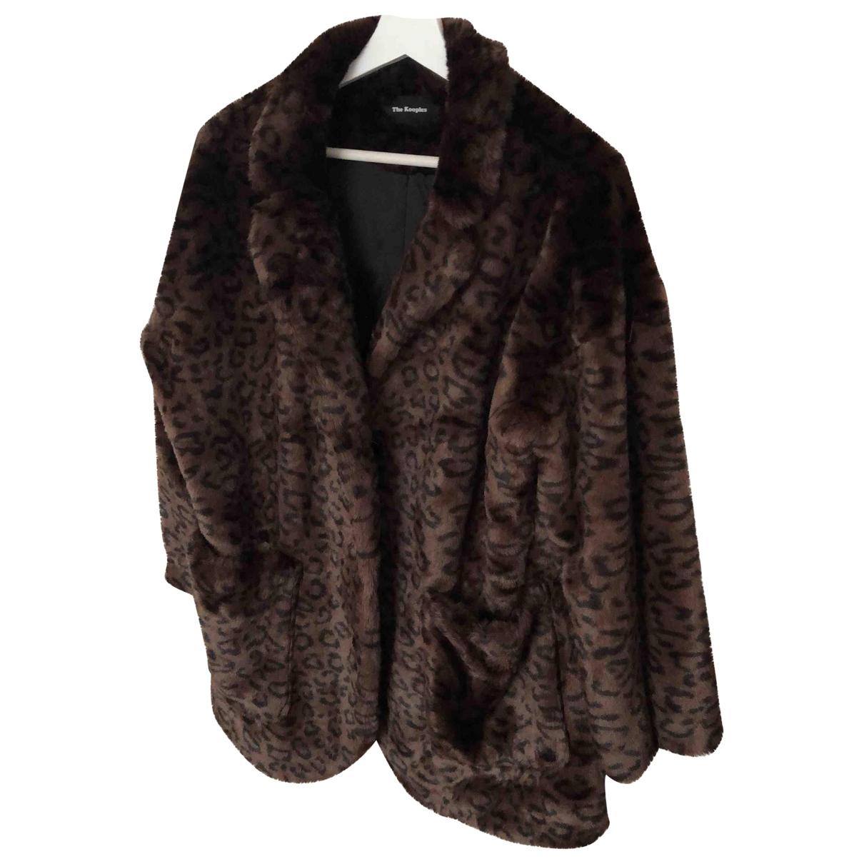 The Kooples \N Brown Faux fur coat for Women 36 FR