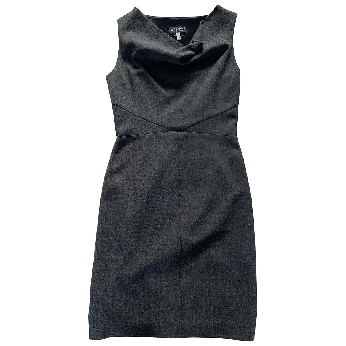 Armani Jeans \N Kleid in  Grau Polyester