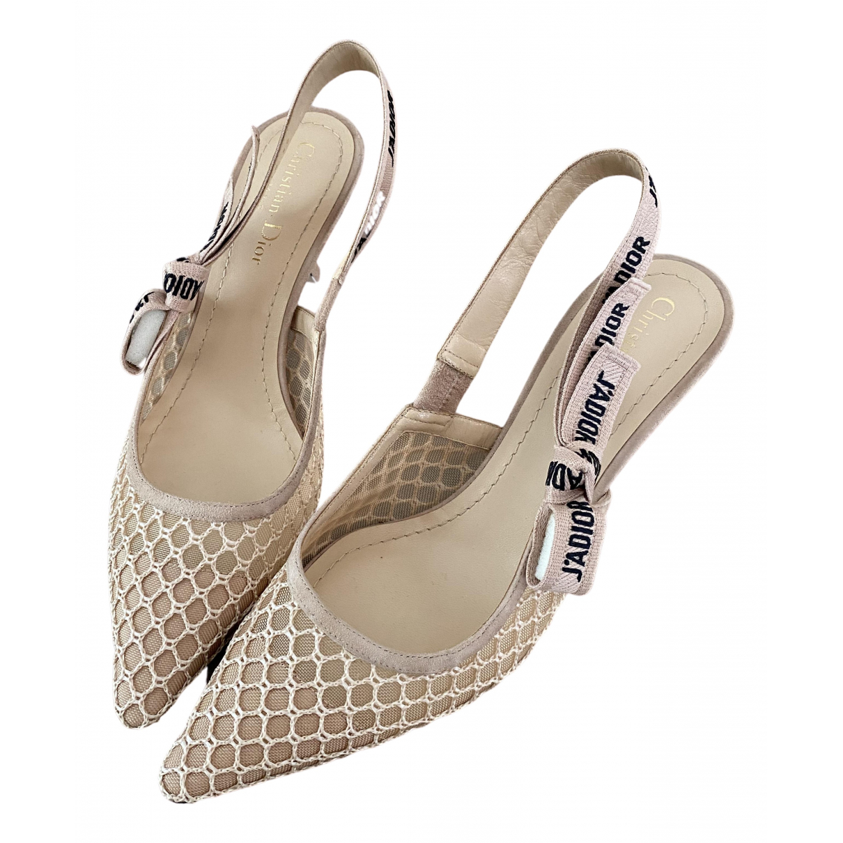 Dior J'adior Beige Cloth Heels for Women 39 EU