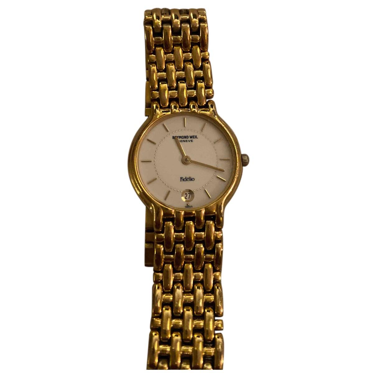 Raymond Weil \N Uhr in  Gold Stahl
