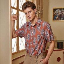 Men Paisley Print Button Up Shirt