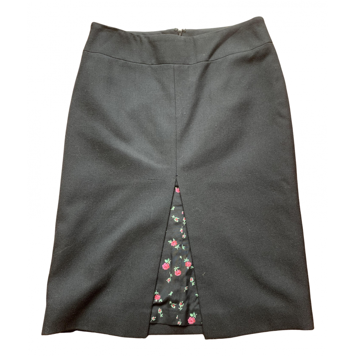 Dolce & Gabbana N Black Wool skirt for Women 42 IT
