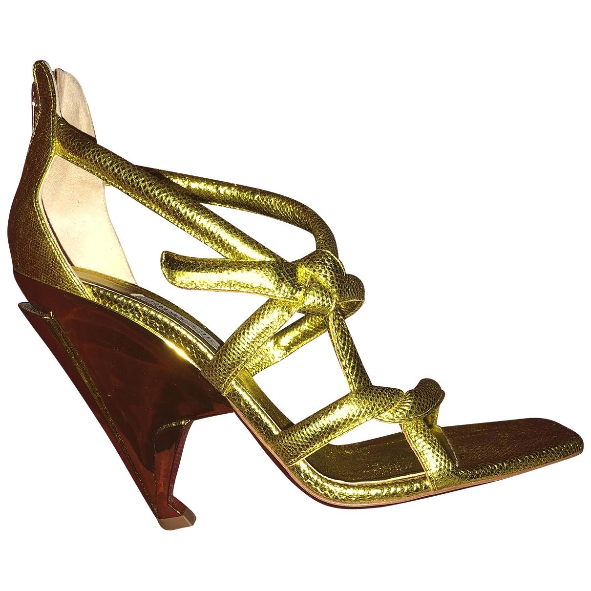 Jimmy Choo - Sandales   pour femme en cuir - jaune