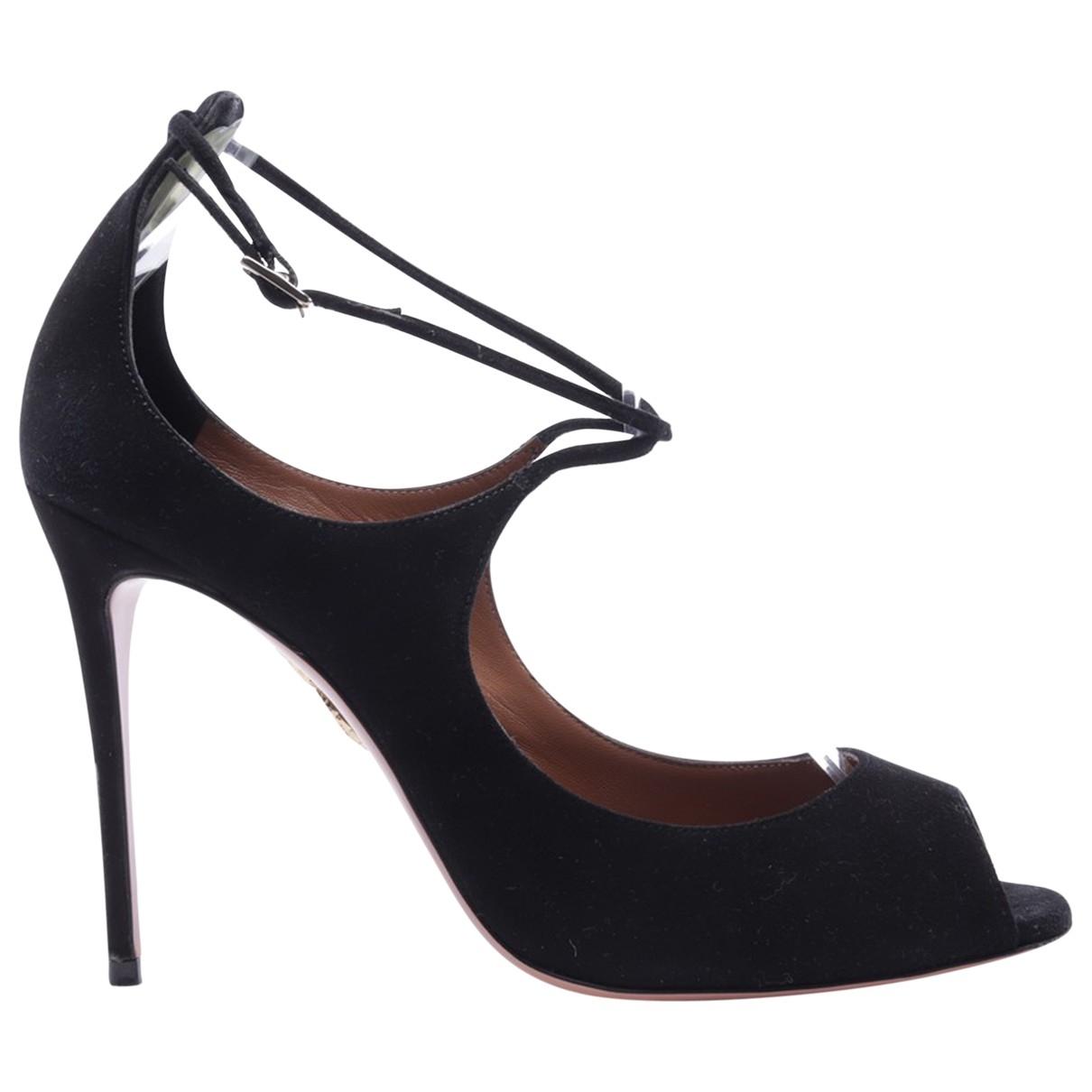 Aquazzura \N Black Leather Sandals for Women 39 EU