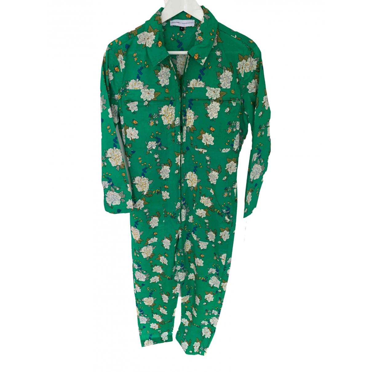 - Combinaison   pour femme en coton - vert