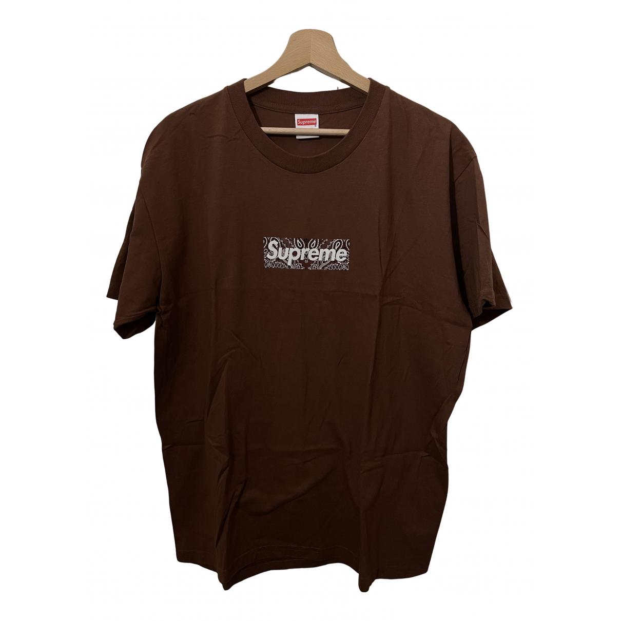 Supreme - Tee shirts   pour homme en coton - marron