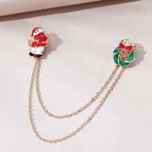 Christmas Chain Brooch