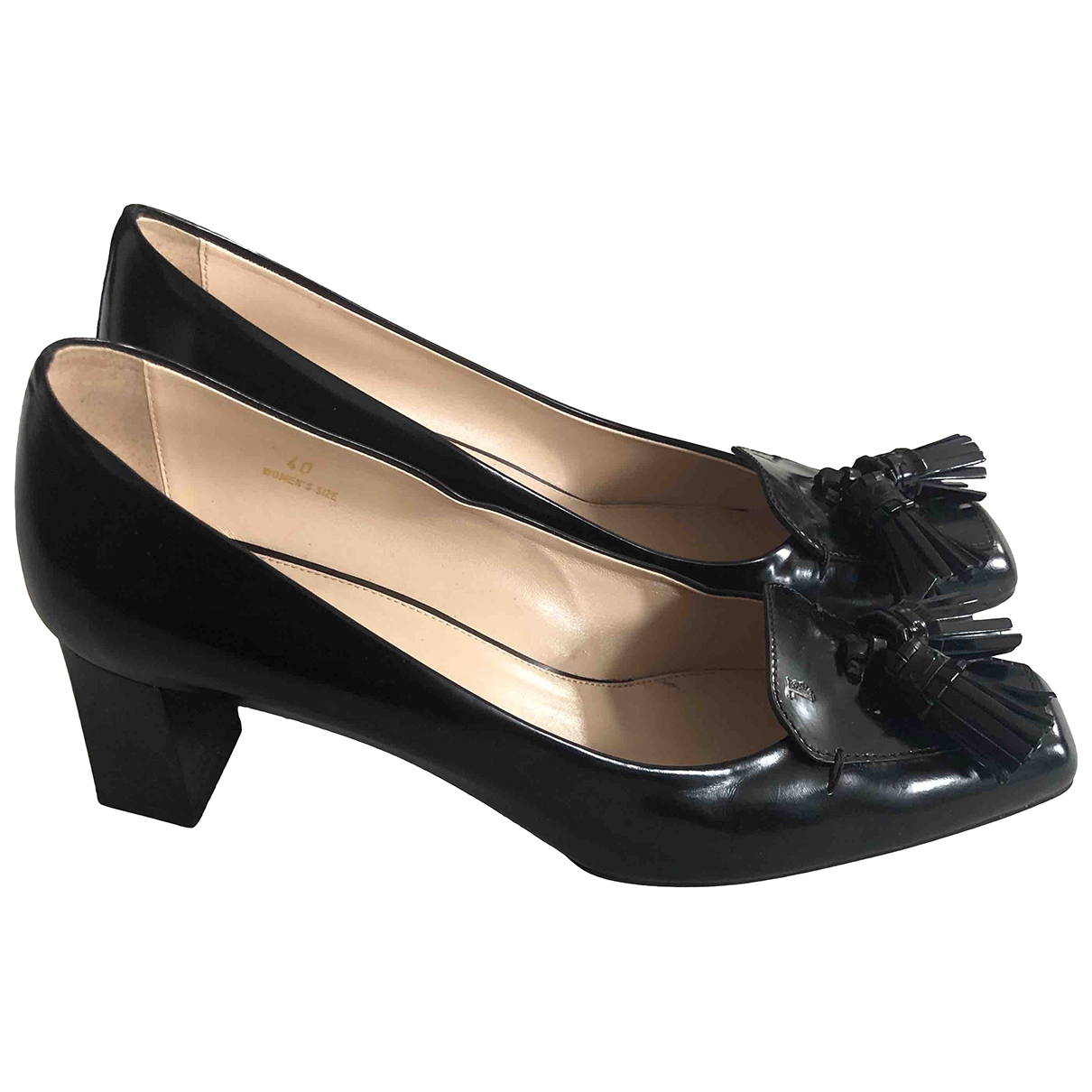Tod's \N Black Leather Heels for Women 40 EU