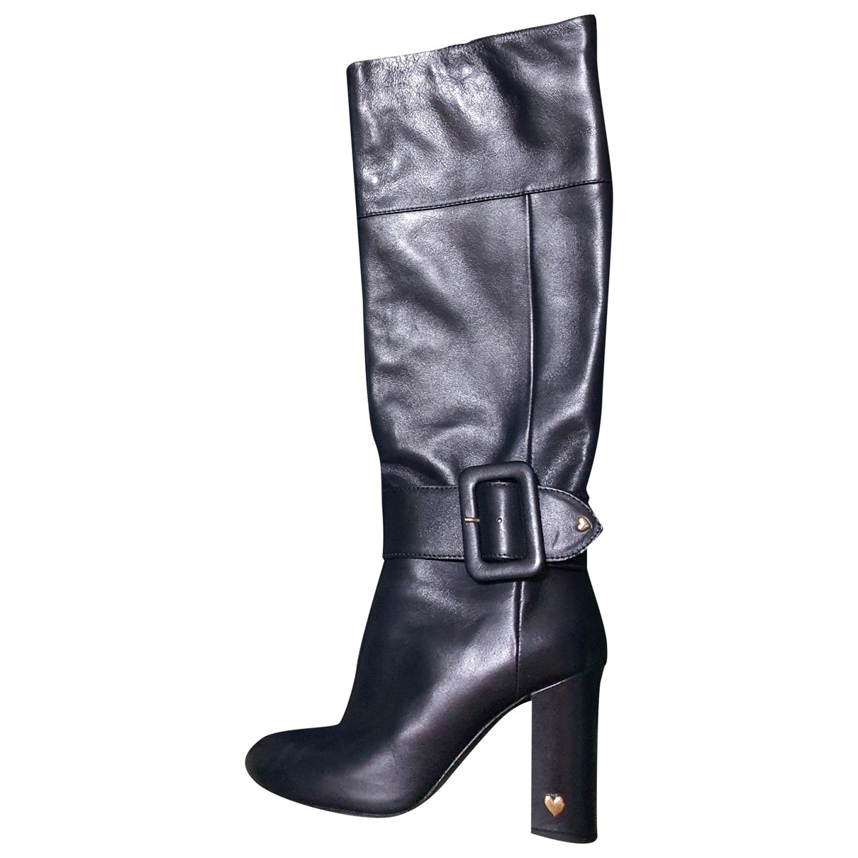 Twin Set N Blue Leather Boots for Women 39 IT