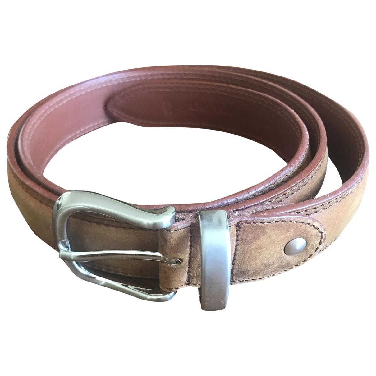 Non Signé / Unsigned \N Camel Suede belt for Men 90 cm