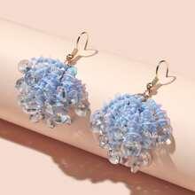 Ohrringe mit Perlen & Kristall Quasten Dekor