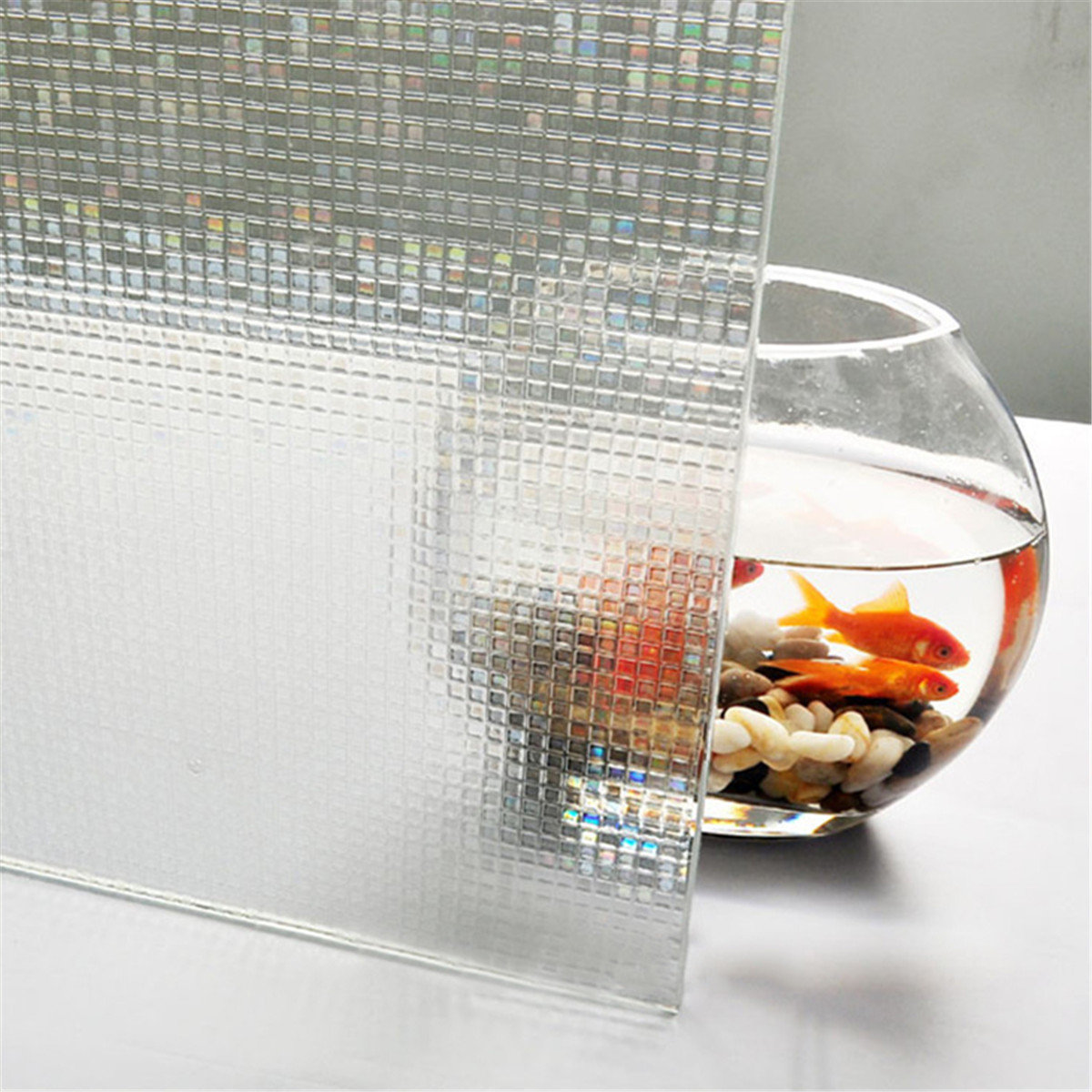 45 x 200cm 3D Static Removable Translucent Window Glass Film Sticker Decor