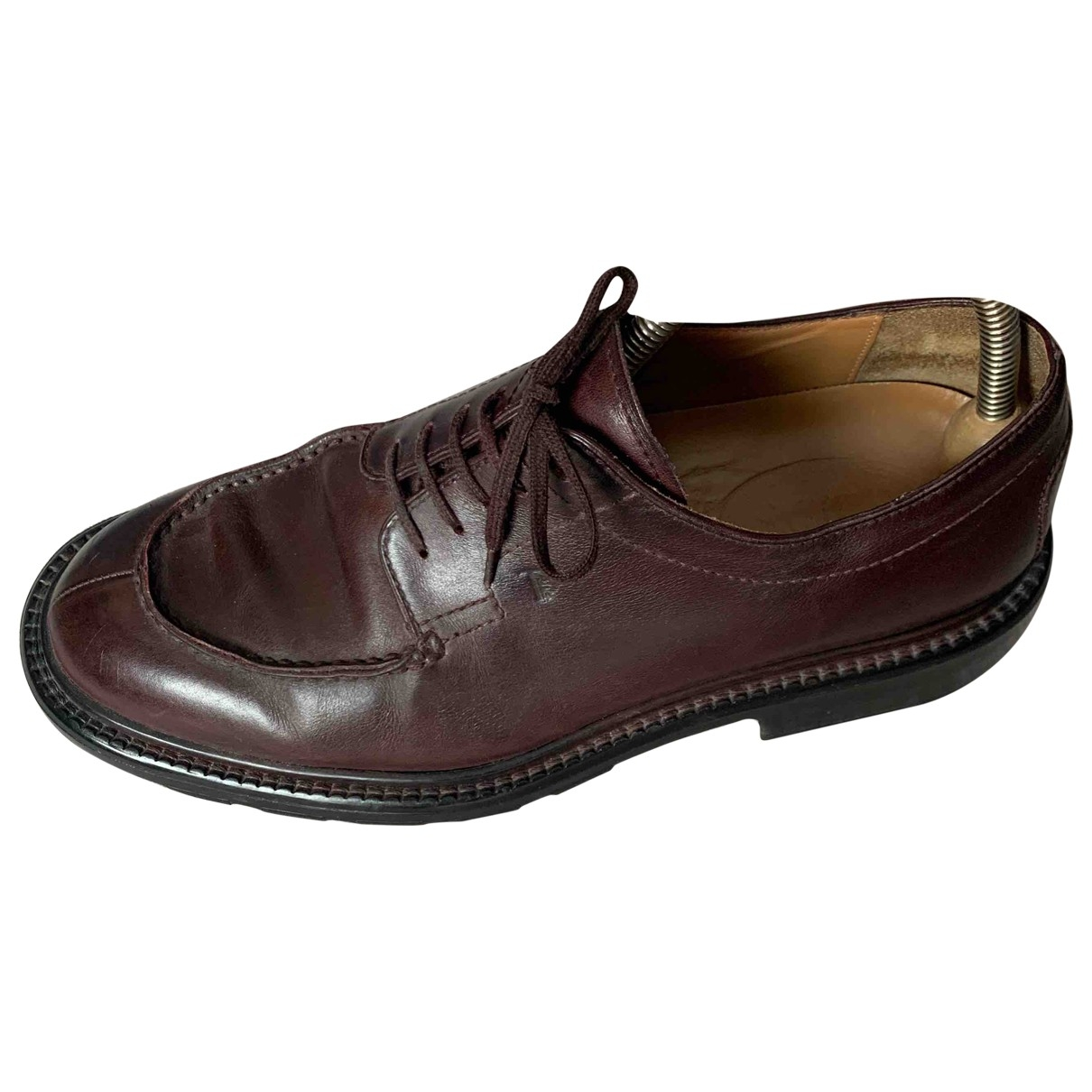 Tod's \N Burgundy Leather Lace ups for Men 8 US