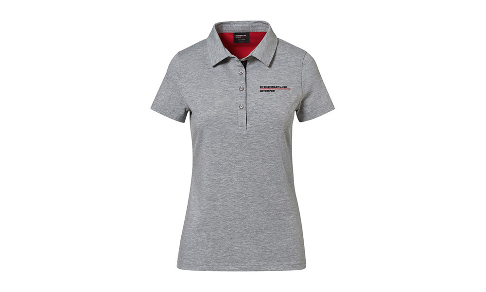 Porsche Driver Selection Motorsport Fanwear Collection Women's Grey Polo Shirt Medium