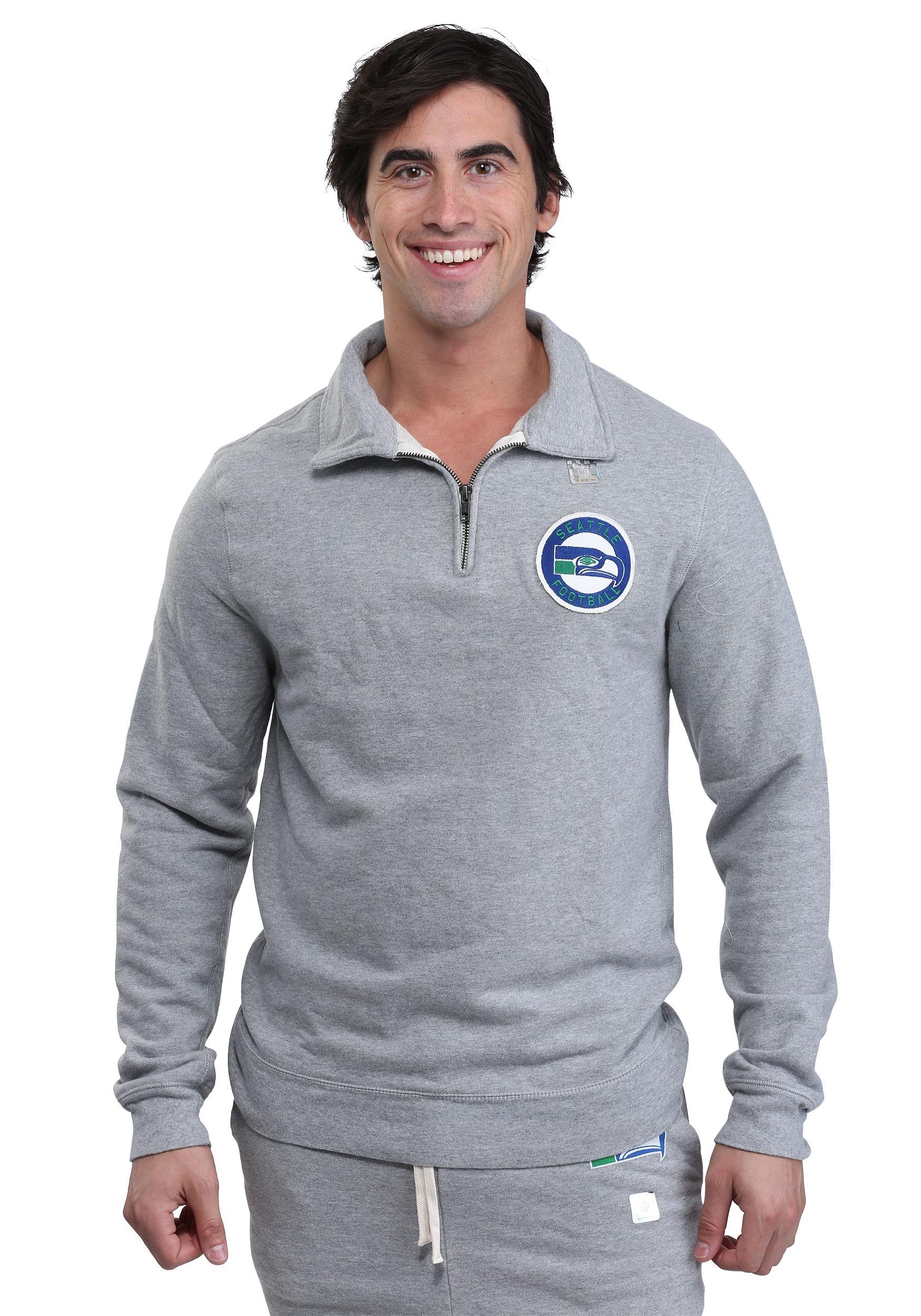 Seattle Seahawks Side Line Quarter-Zip Sweater for Men