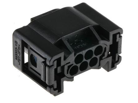 TE Connectivity , Micro Quadlock System Automotive Connector Socket 2 Row 6 Way, Crimp Termination, Black (10)