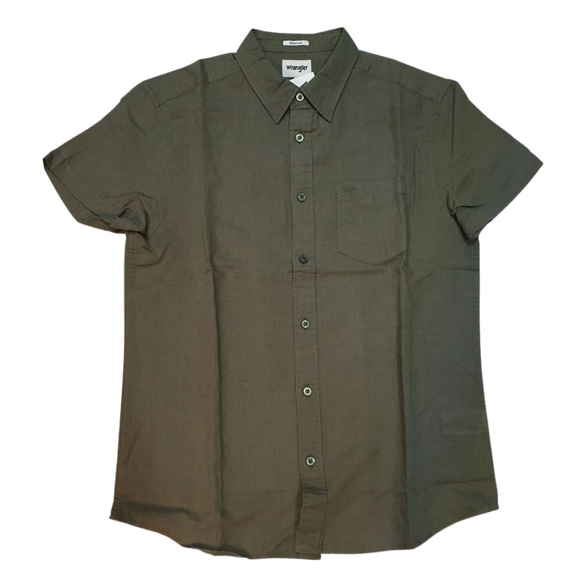 Wrangler - Chemises   pour homme en coton - kaki