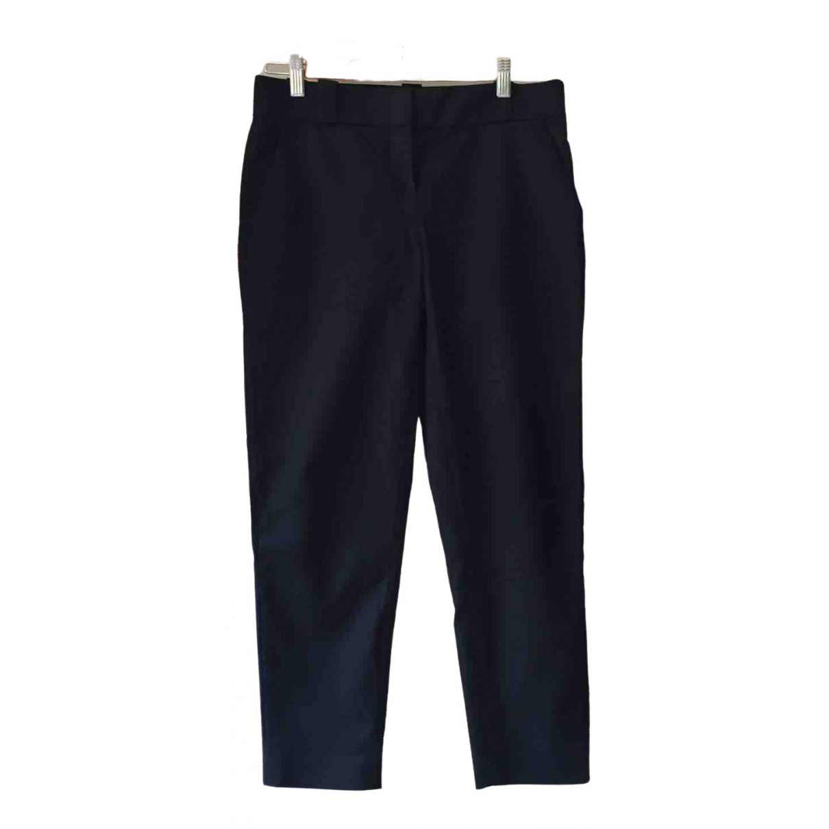 The Row \N Navy Cotton Trousers for Women 2 US