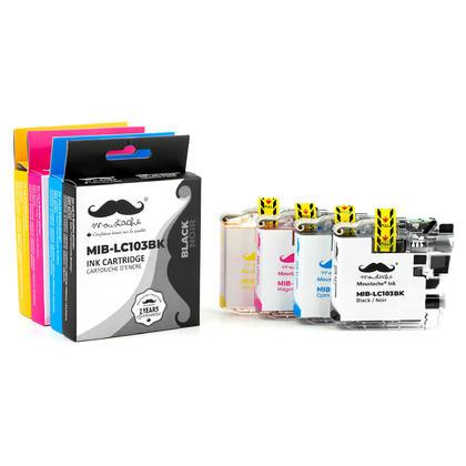 Compatible Brother DCP-J152W cartouches encre bk/c/m/y de Moustache, ensemble de 4 paquet - haut rendement