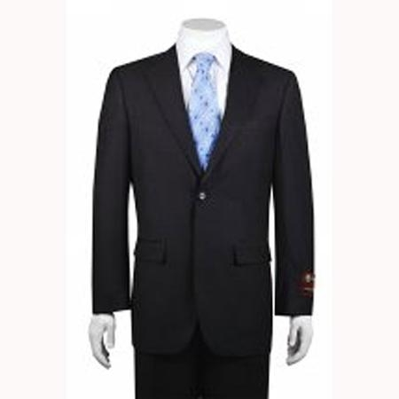 Mens 2button Solid Charcoal Suit