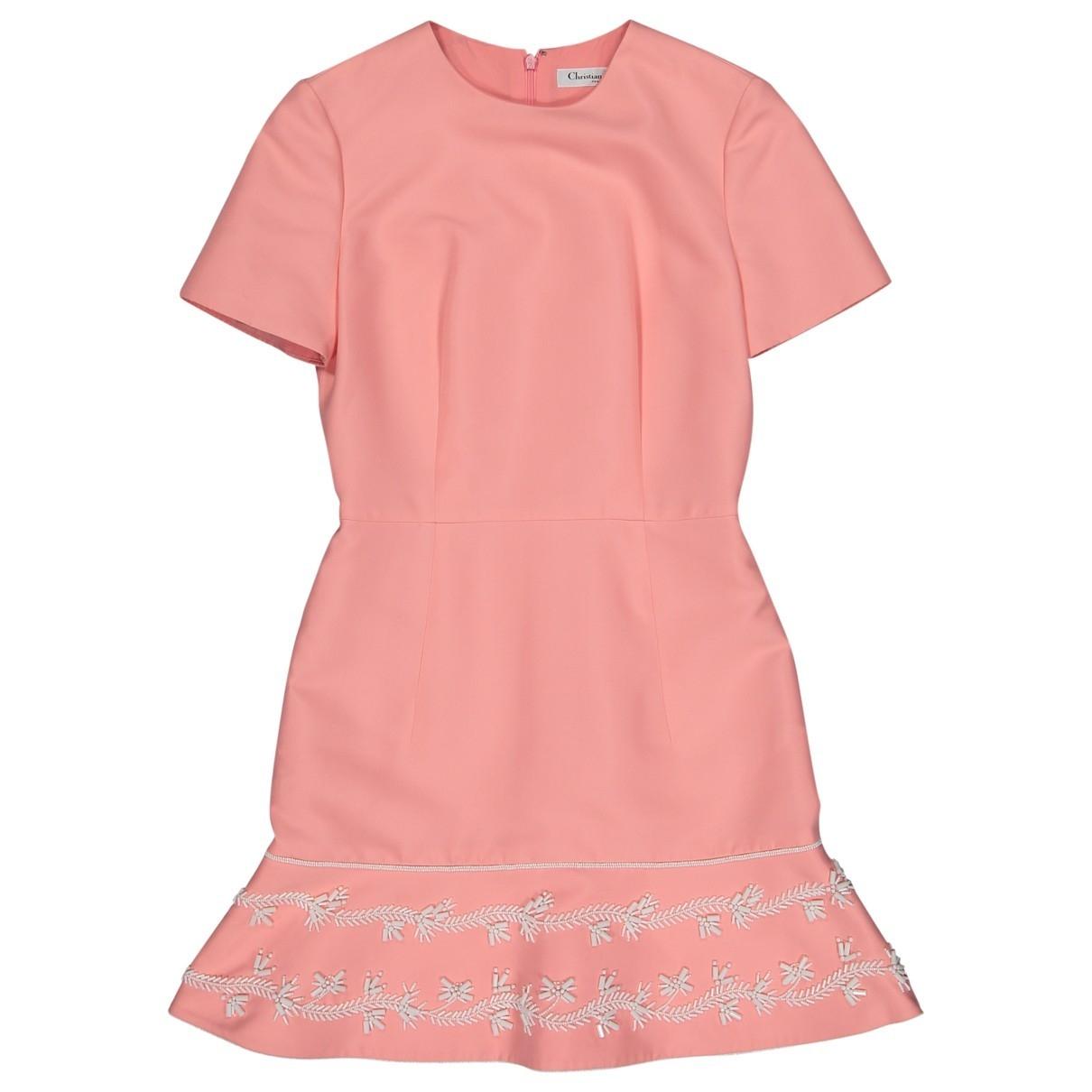 Dior - Robe   pour femme en coton - rose