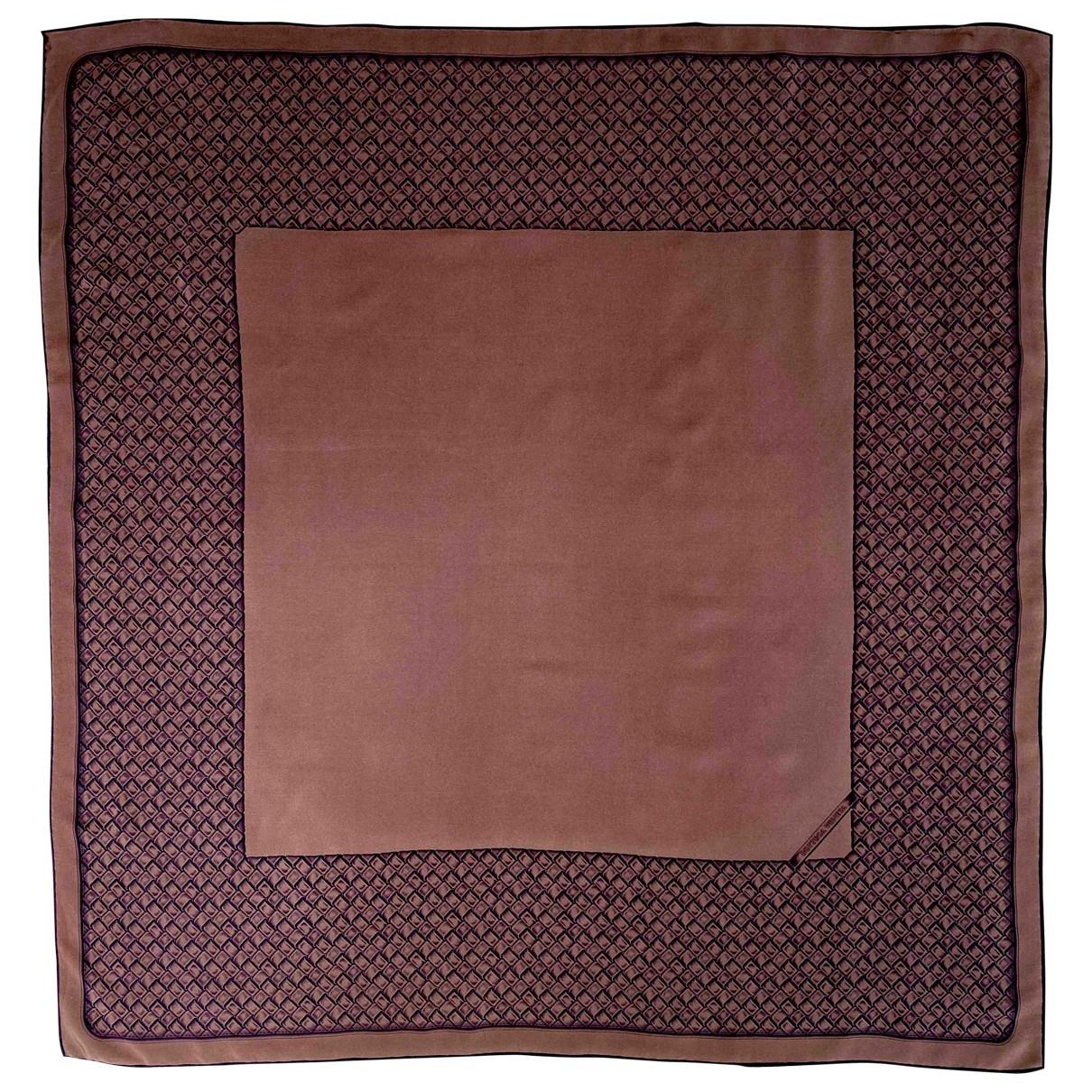 Bottega Veneta - Foulard   pour femme en soie - marron