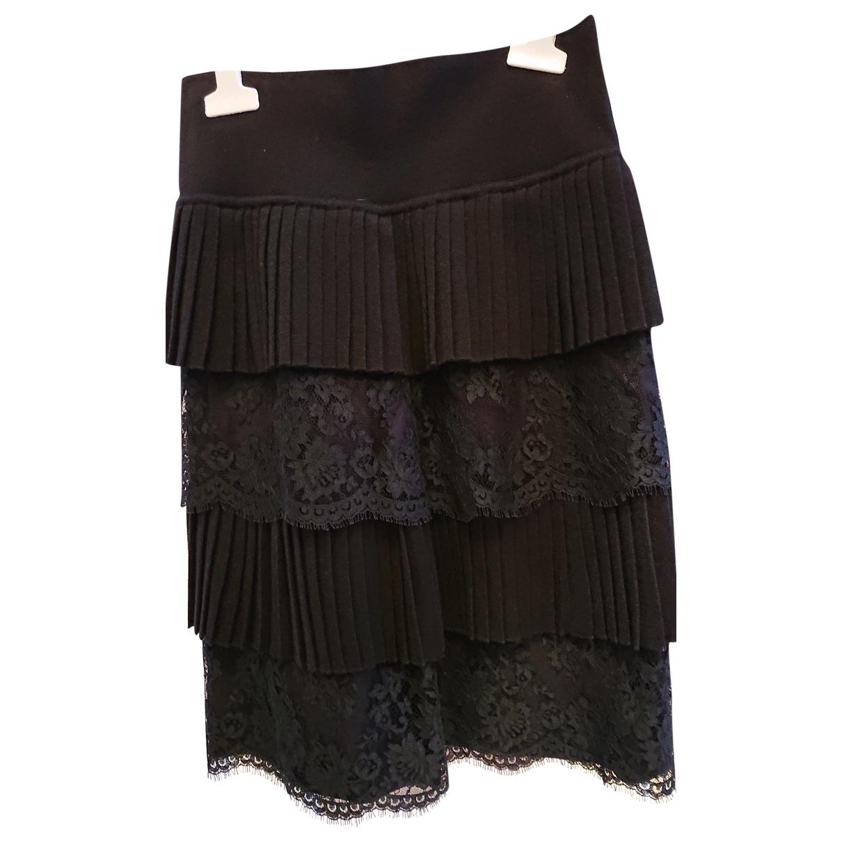 Valentino Garavani \N Black Wool skirt for Women 36 FR