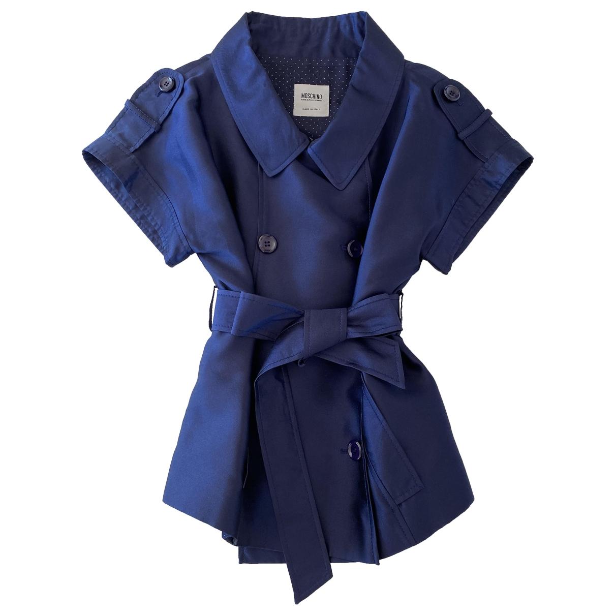 Moschino Cheap And Chic \N Jacke in  Blau Seide