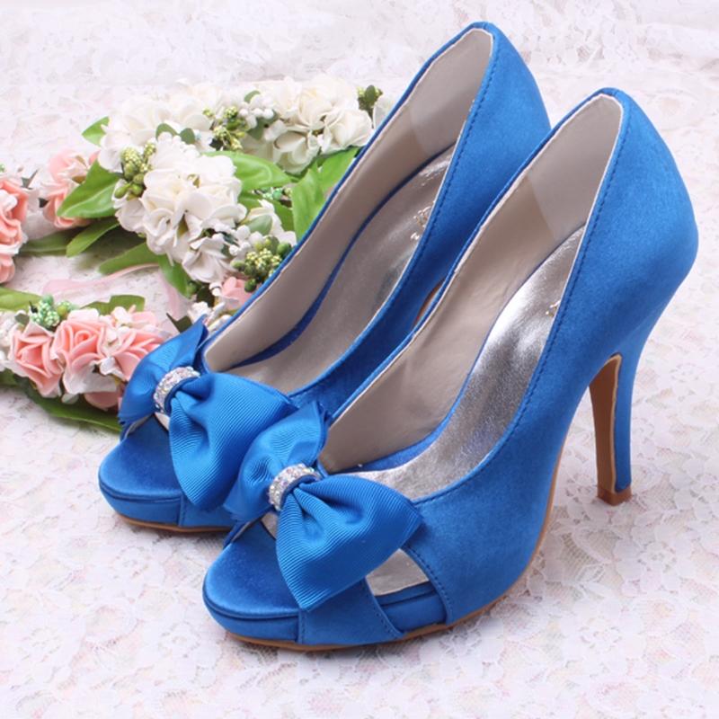 Ericdress Beautiful Satin Bowknot High Heel Prom Shoes