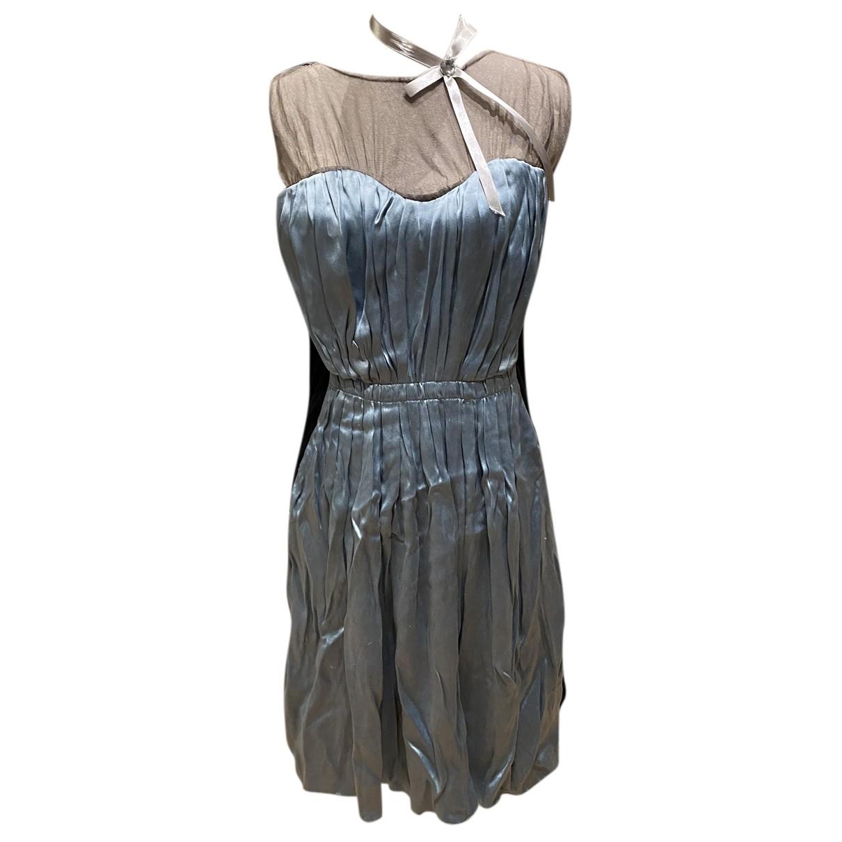 Lanvin \N Kleid in  Blau Seide