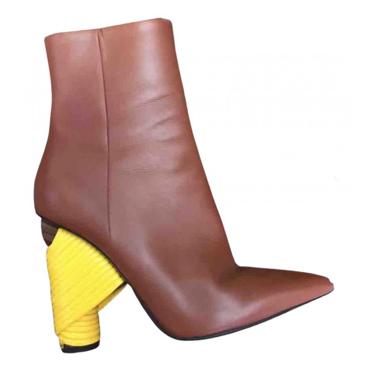 Balenciaga - Boots   pour femme en cuir - marron