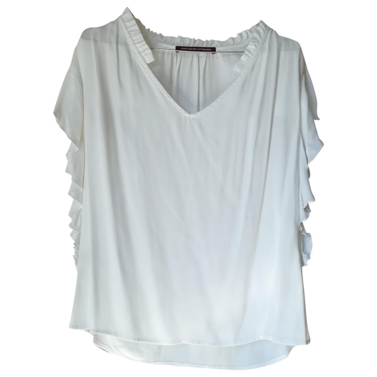 Comptoir Des Cotonniers - Top   pour femme - blanc