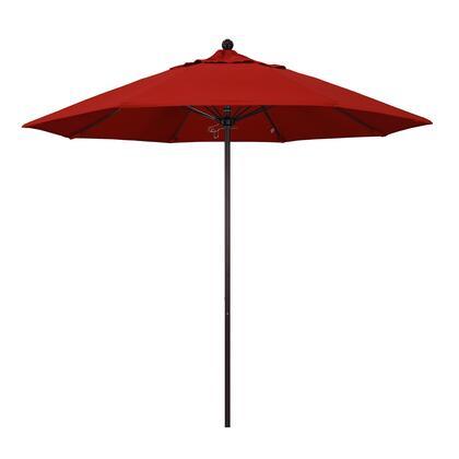 ALTO908117-SA03 9 Venture Series Commercial Patio Umbrella With Bronze Aluminum Pole Fiberglass Ribs Push Lift With Pacifica Red