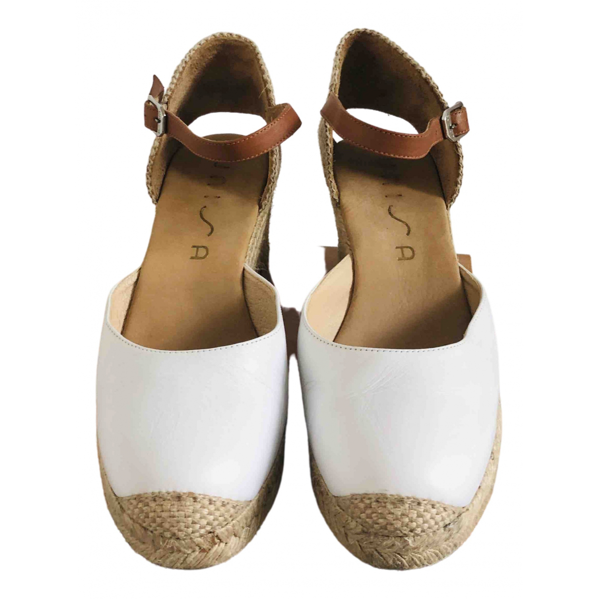 Unisa \N White Leather Sandals for Women 40 EU