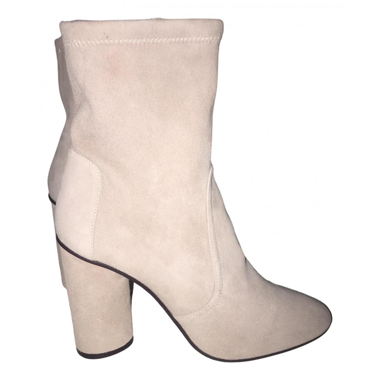 Stuart Weitzman - Boots   pour femme en suede - rose