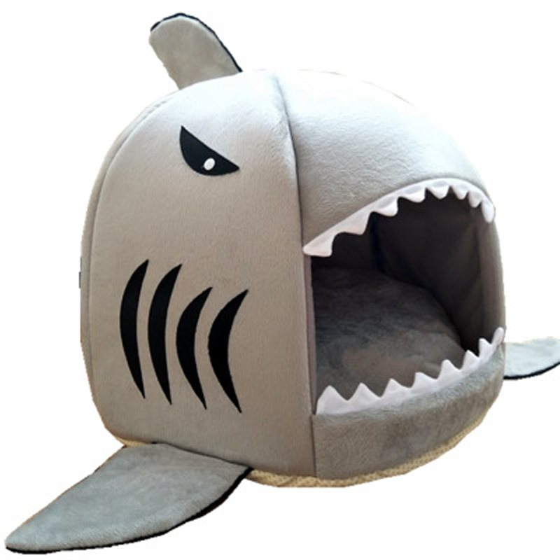 Soft Shark Pet Dog Cat House Bed Basket Pet Sleeping Nest Mat Sleep Bag Blanket