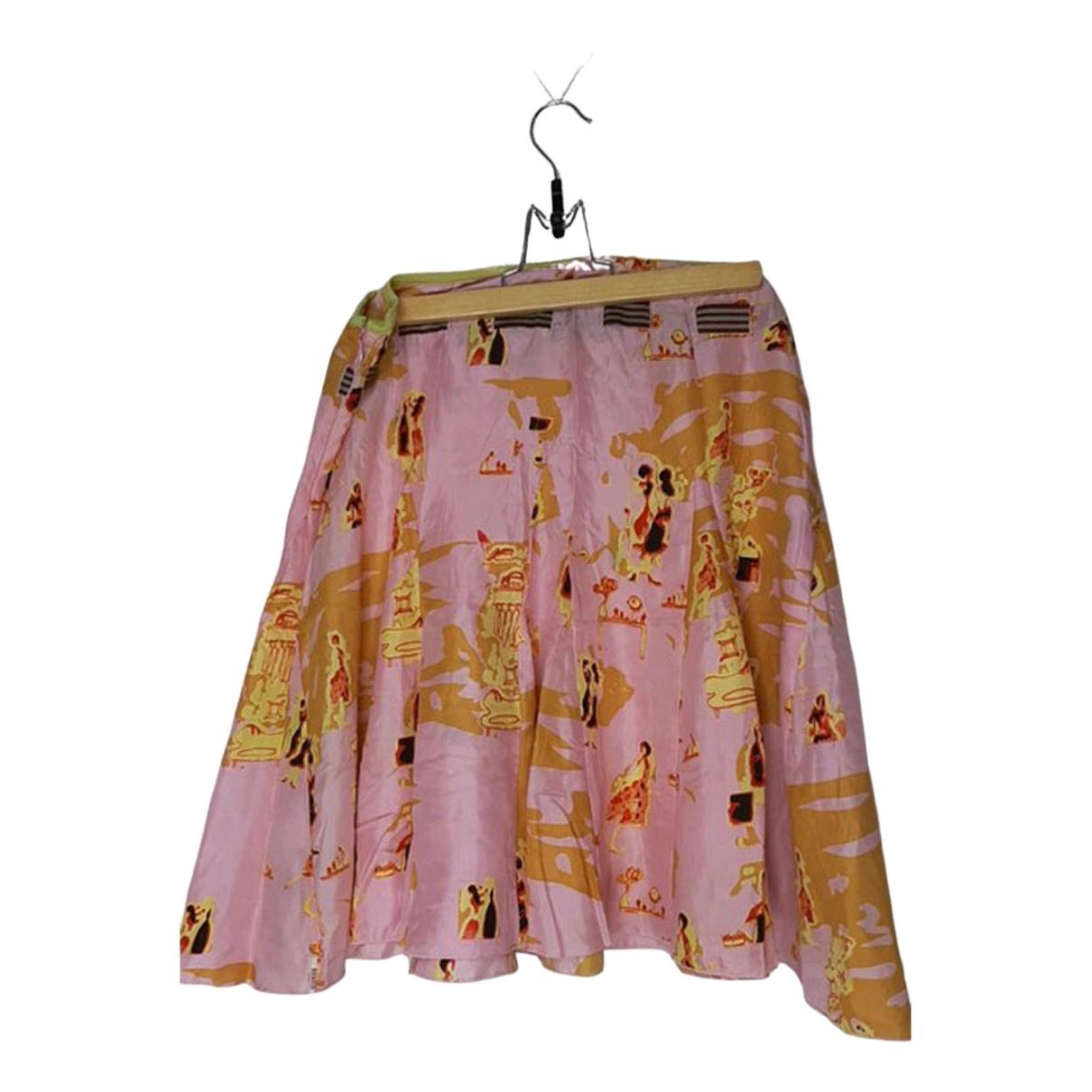 Guess - Jupe   pour femme en soie - rose