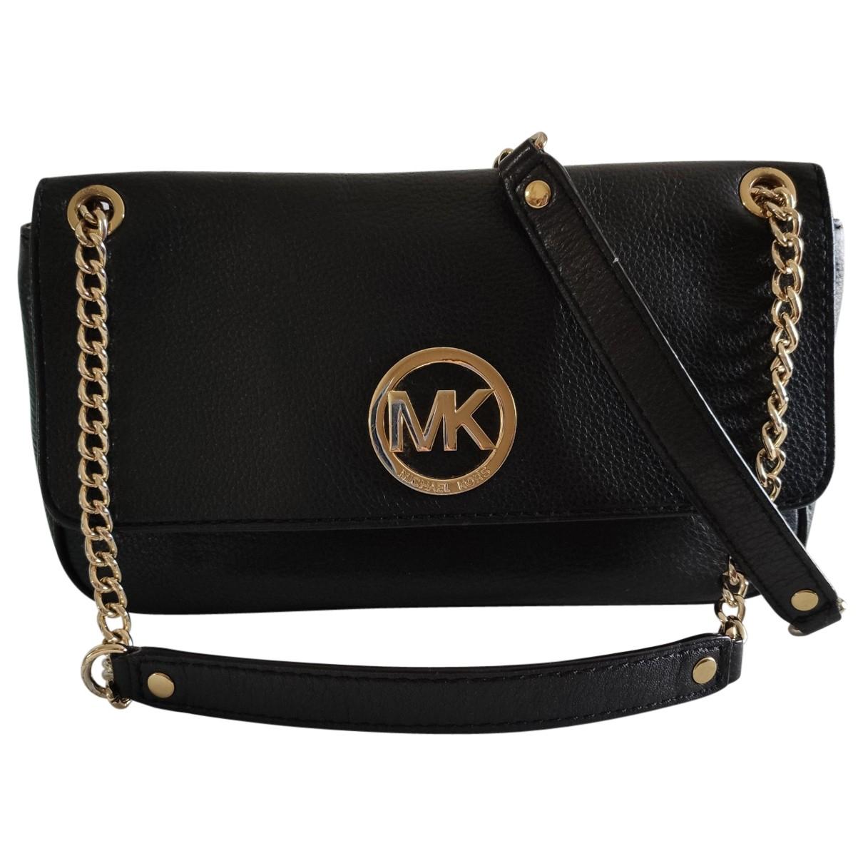 Michael Kors Sloan Handtasche in  Schwarz Leder