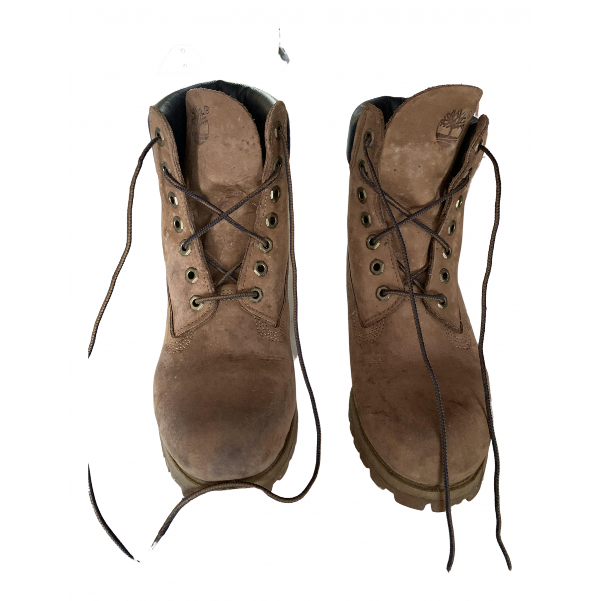 Timberland \N Beige Leather Boots for Men 39.5 EU