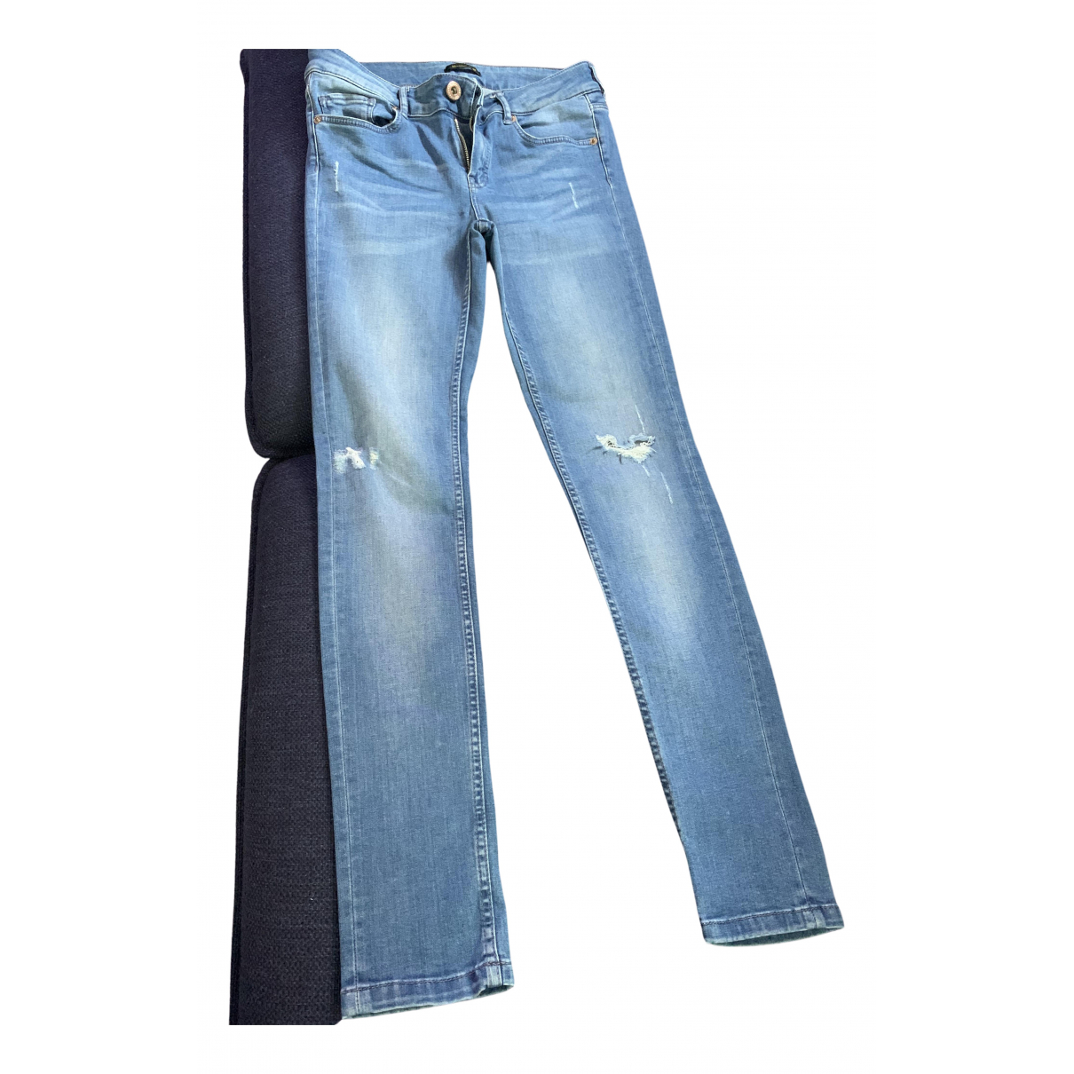 Massimo Dutti N Blue Cotton Jeans for Women 38 FR