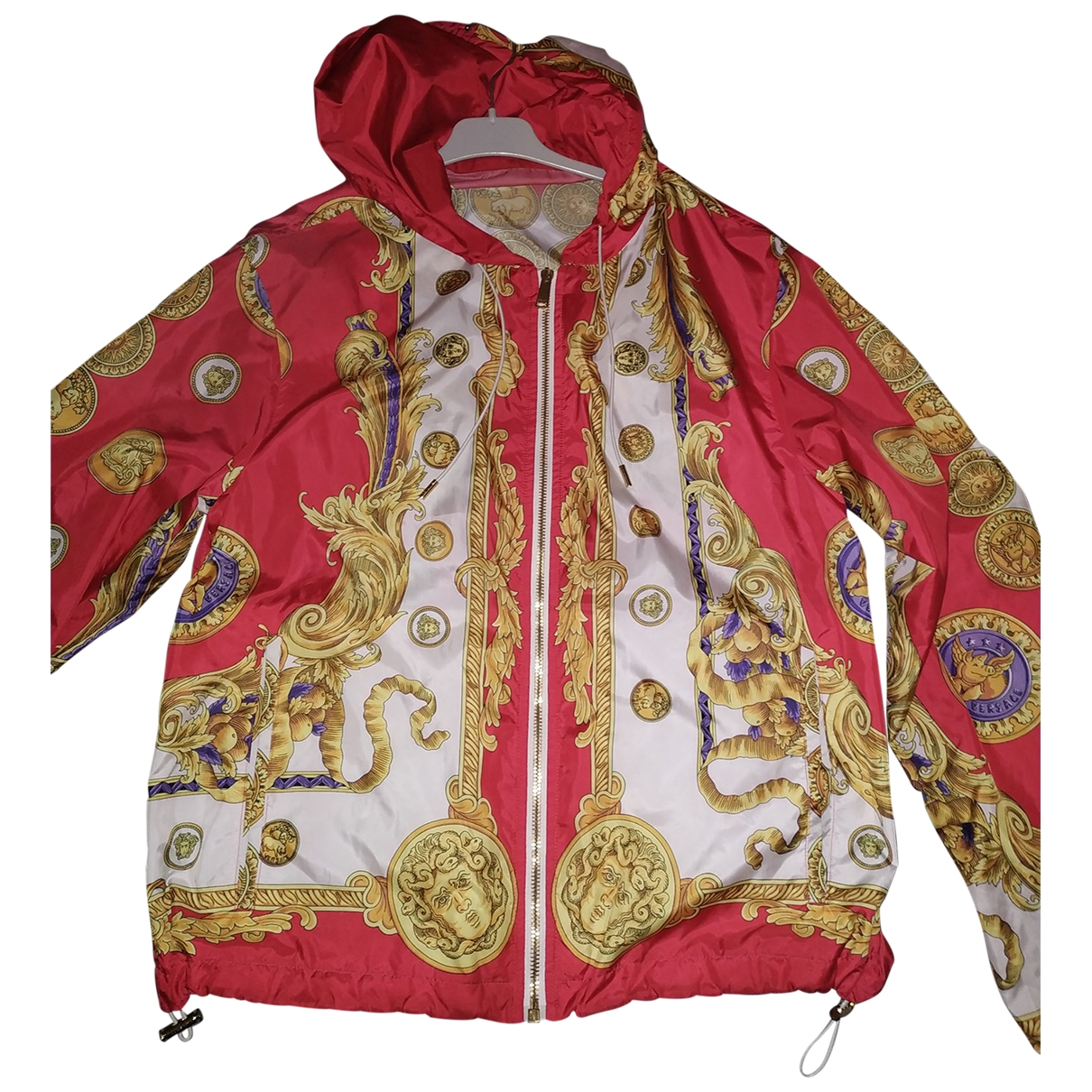 Versace \N Jacke in  Rot Polyester