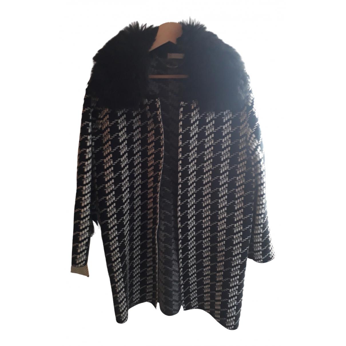 Non Signé / Unsigned \N Black coat for Women 36 FR