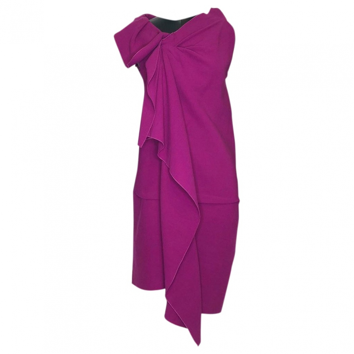 Roland Mouret \N Kleid in  Rosa Wolle