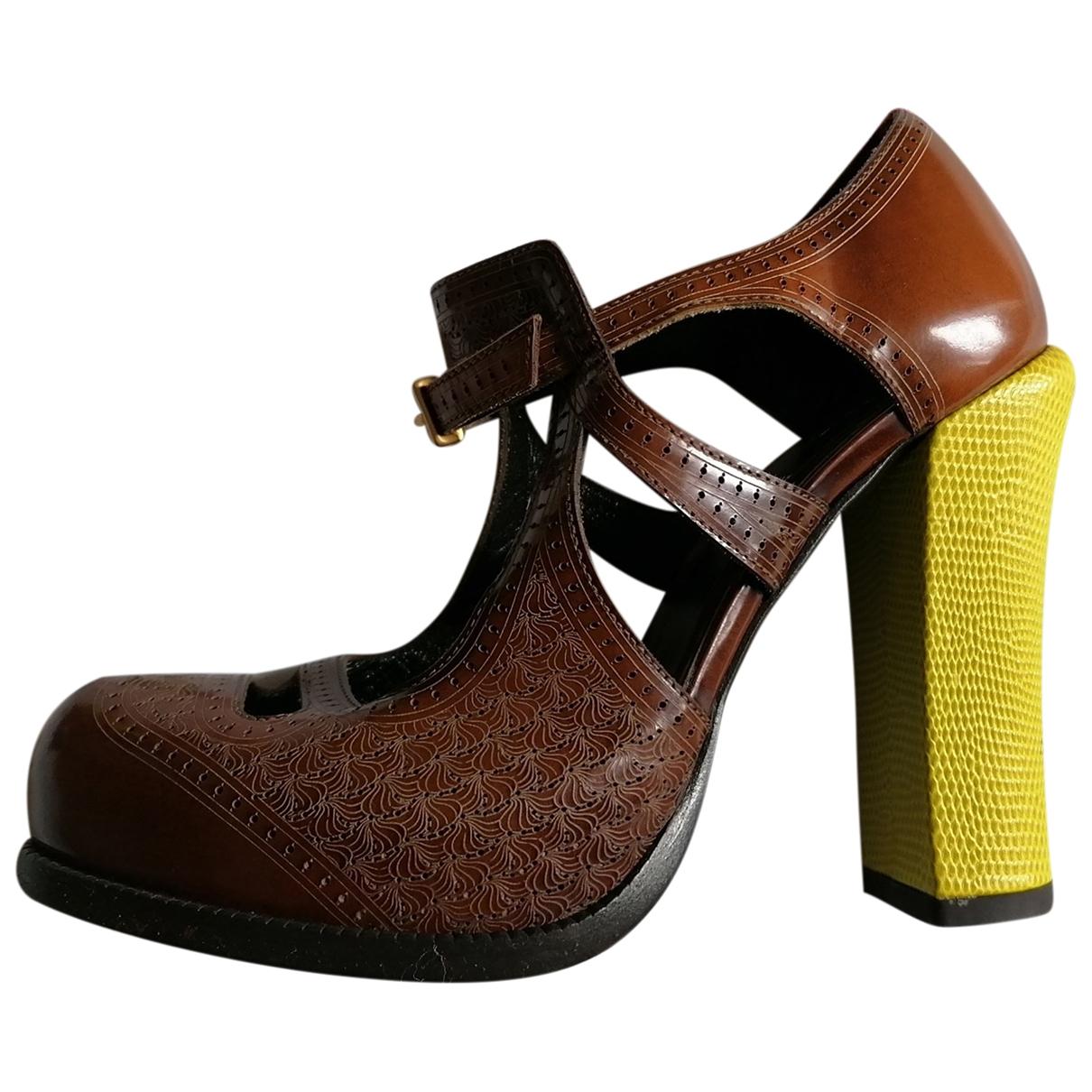Fendi - Escarpins   pour femme en cuir - multicolore