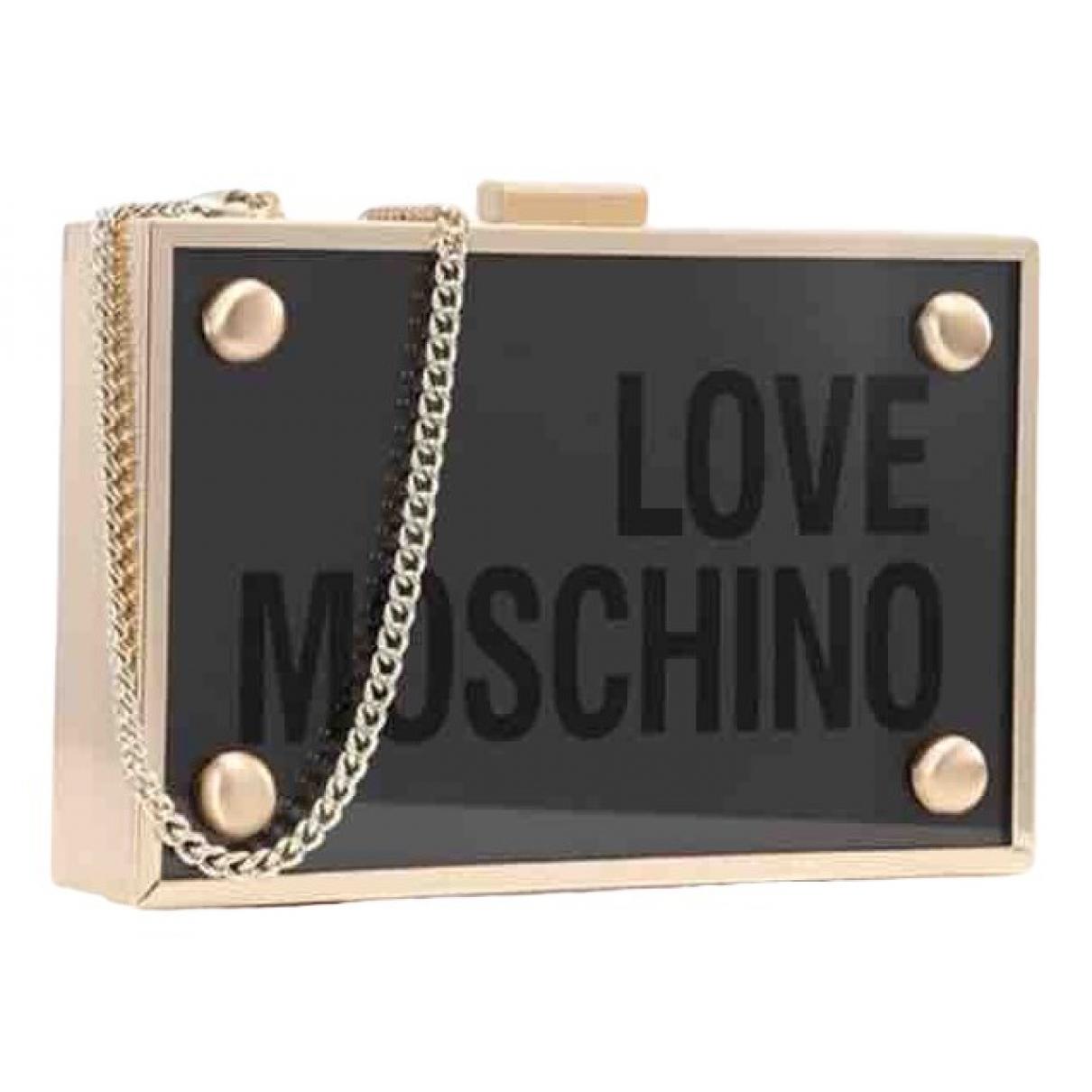 Bolsos clutch en Plastico Dorado Moschino Love