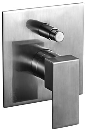 AB6801-BN Modern Square Shower Mixer with Diverter  Brass  Square Shaped Lever Handle  Sleek Modern Design  User-Friendly Installation and  UPC