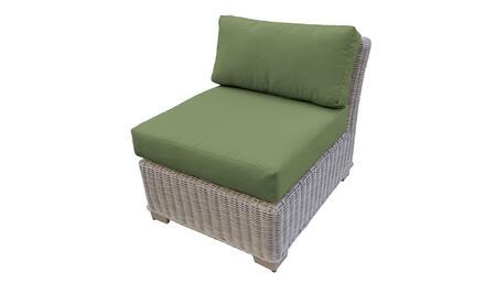 TKC038b-AS-CILANTRO Armless Chair - Beige and Cilantro