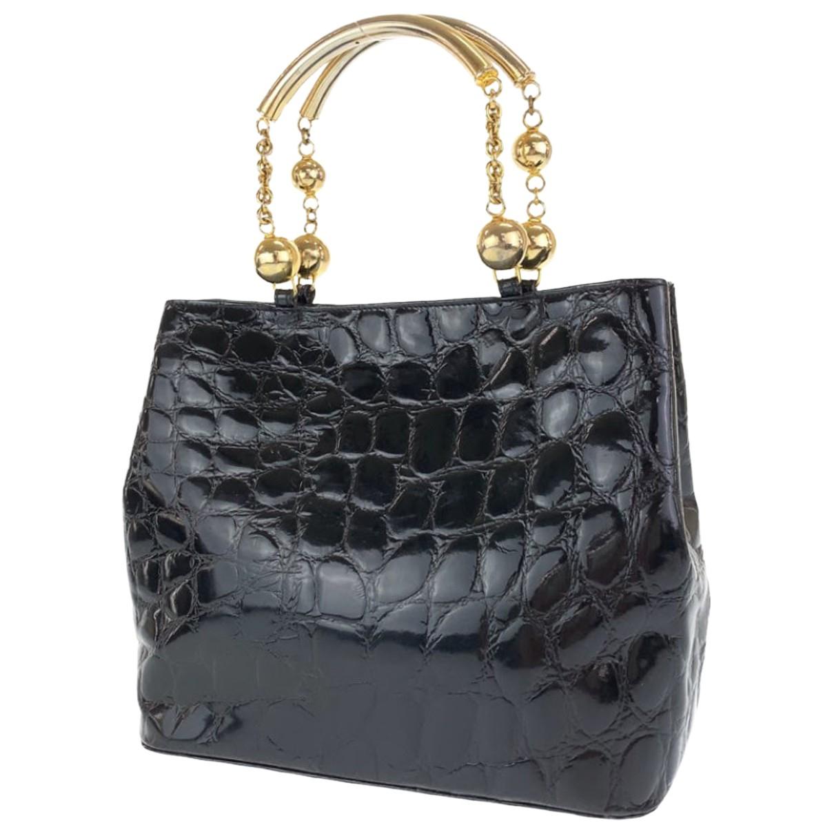 Gianni Versace N Leather handbag for Women N