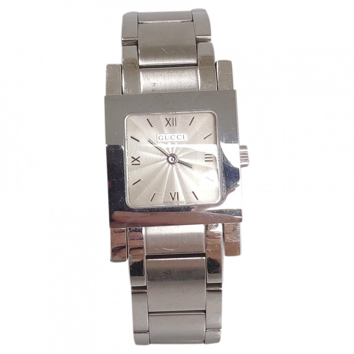 Gucci \N Grey Steel watch for Women \N